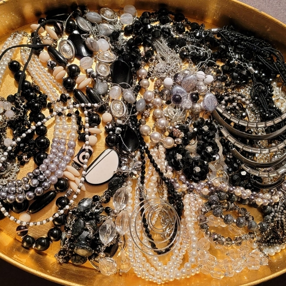 Over 3LBS of Fashion Jewelry, Classic Tones